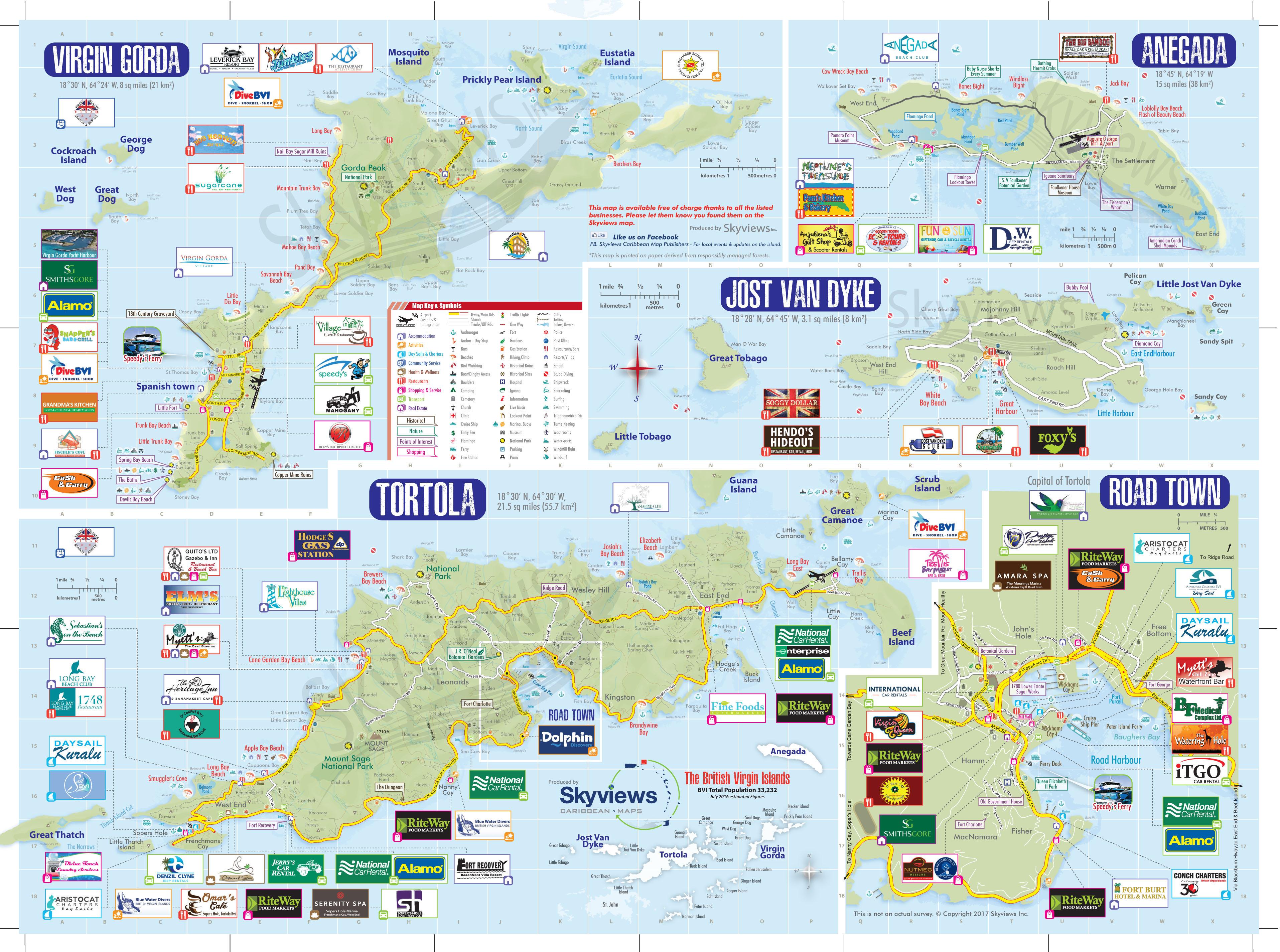 Map Of British Virgin Islands Caribbean Islands Maps And Guides - Map-of-us-virgin-islands-and-british-virgin-islands