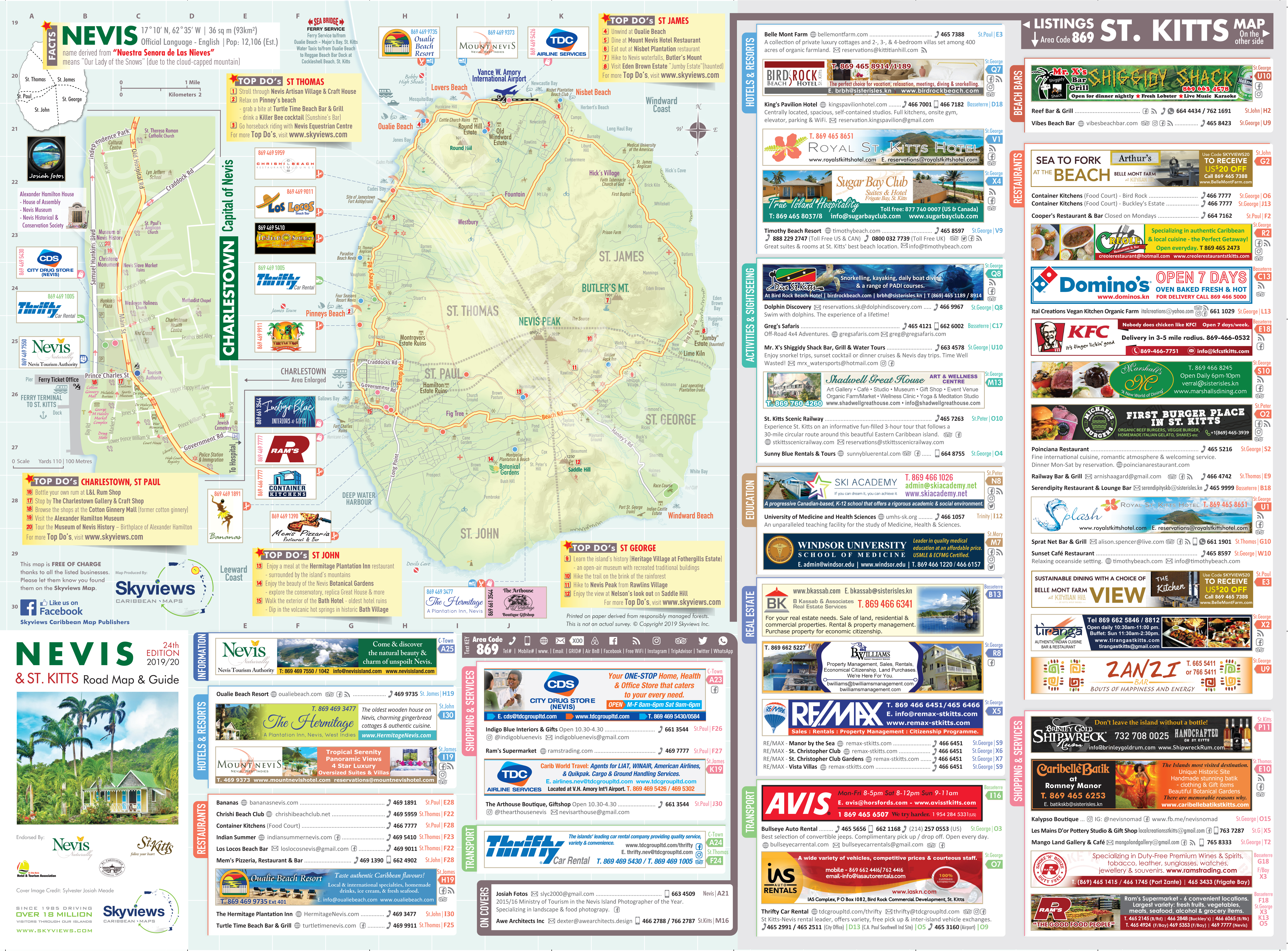 Map of St. Kitts & Nevis - Caribbean Islands Maps and Guides
