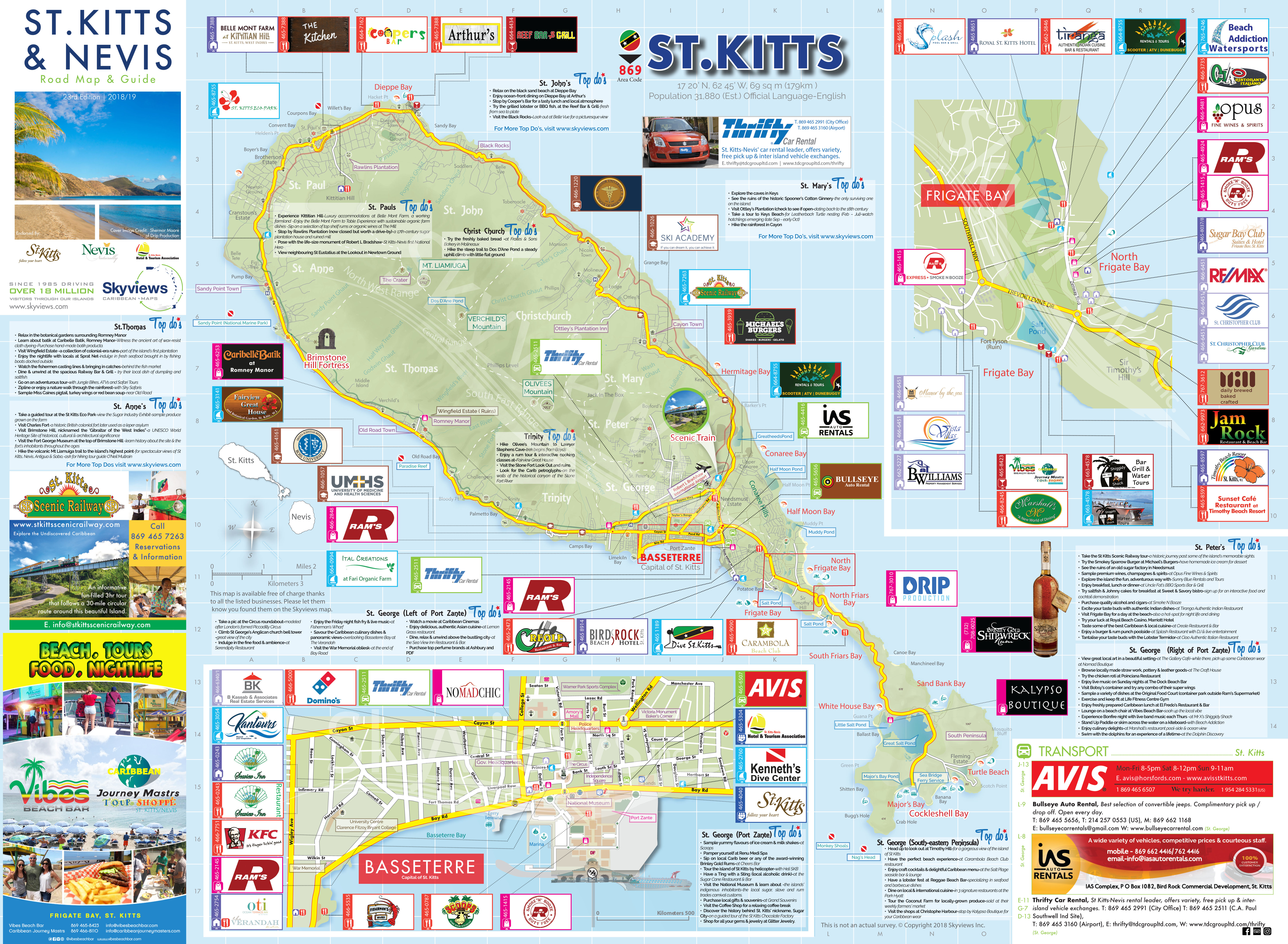 Map Of St Kitts Nevis Caribbean Islands Maps And Guides 2nd Judicial Circuit Historical Society Side