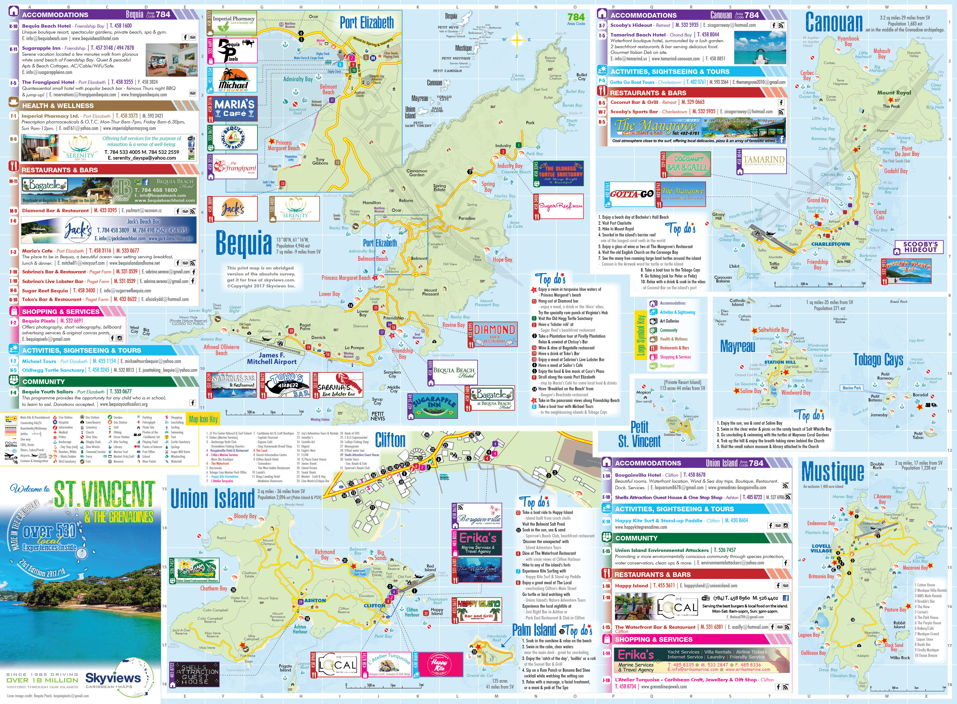 Map of St Vincent The Grenadines Caribbean Islands Maps and Guides