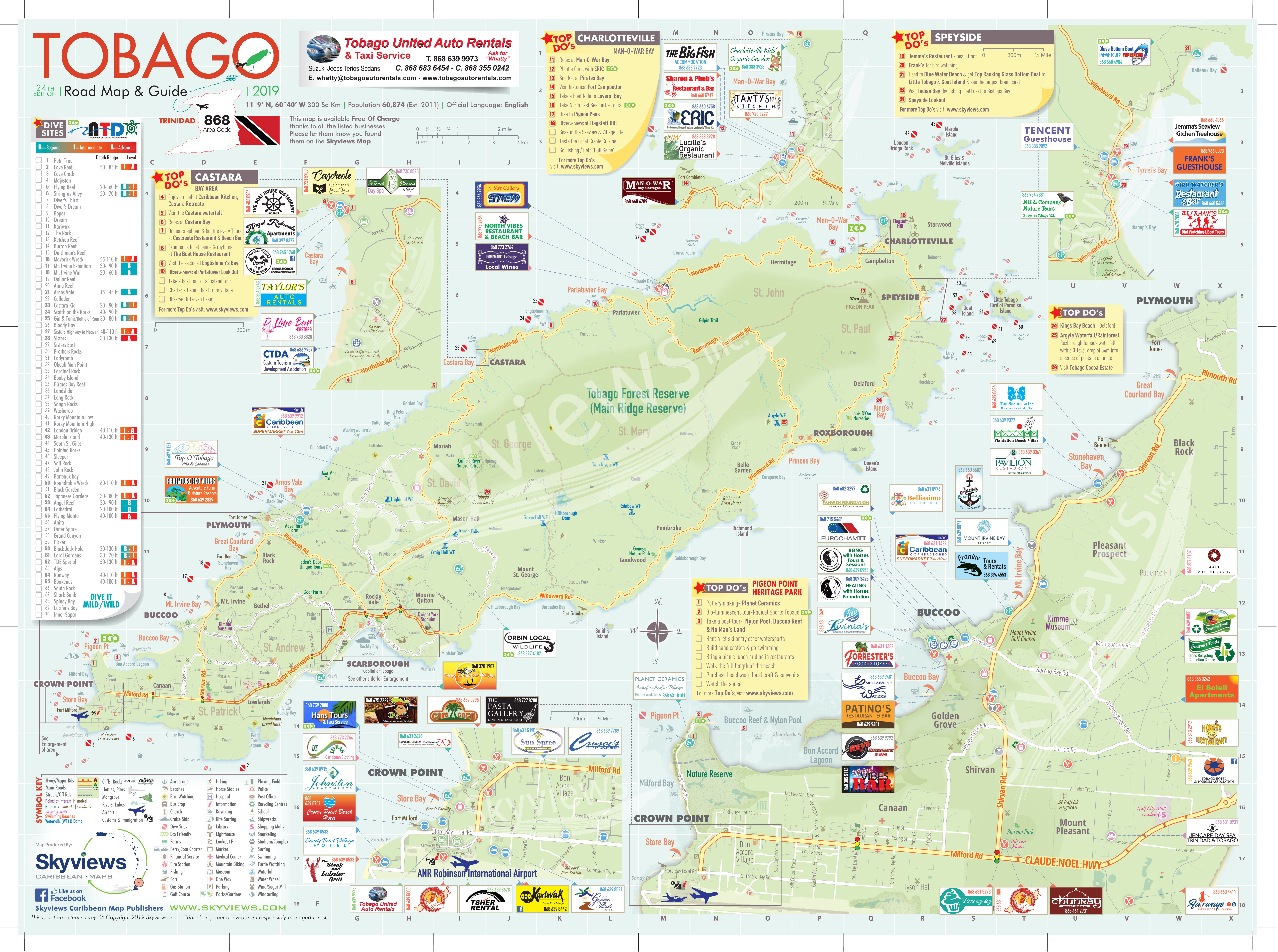Image of: Map Of Tobago Caribbean Islands Maps And Guides